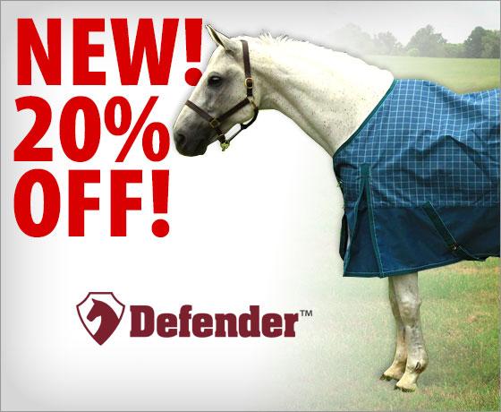 New! 20% Off the Defender Plus 1200D Standard Neck Turnout Sheet!