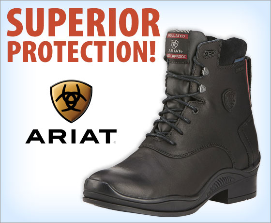 Superior protection! Ariat® Ladies' Extreme H2O Insulated Lace Paddock!