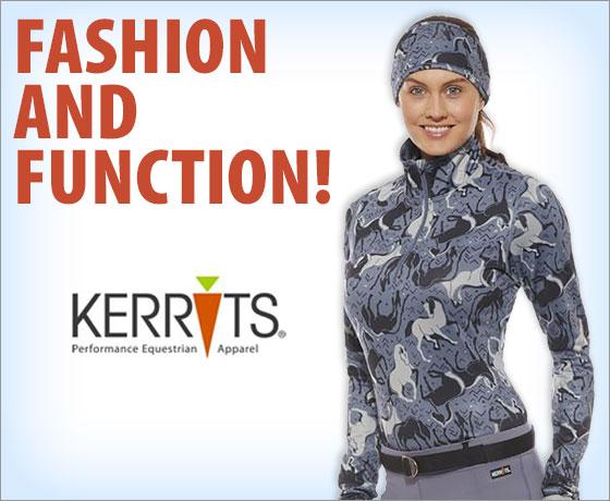 Fashion and Function! Kerrits® Ladies' Horse Sense Half Zip!