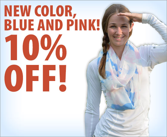 New Color, Blue and Pink! 10% Off the Galloping Horse Infinity Scarf!