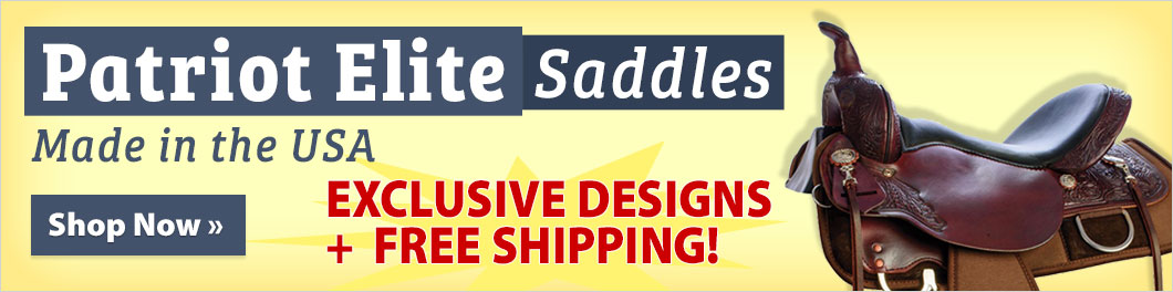 Patriot Elite Saddles - Made in the USA! Exclusive designs + FREE shipping!