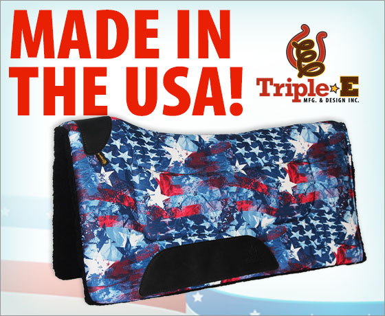Made in the USA! Triple E Patriotic Fleece Back Contoured Pad!