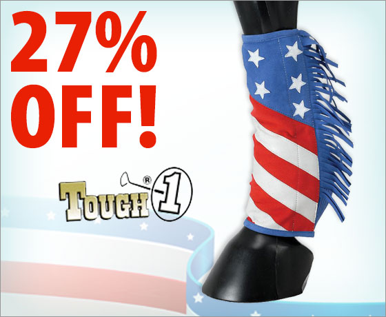 27% off the Tough-1® Patriotic Sport Boot Covers With Fringe!