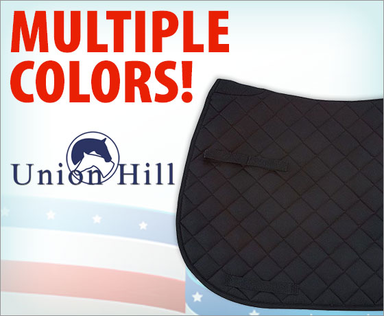 Multiple colors! Union Hill All Purpose Saddle Pad!