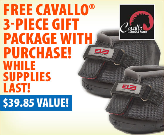 FREE Cavallo® 3-Piece Gift Package with purchase of Cavallo® Hoof Boots†!