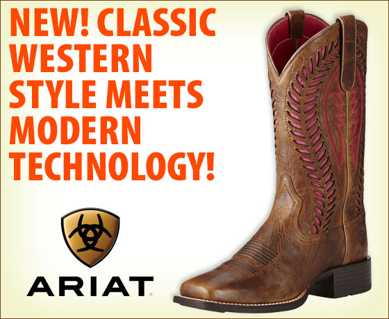 New! Classic Western style meets modern technology! Ariat® Ladies' Quickdraw VentTEK Boots†!