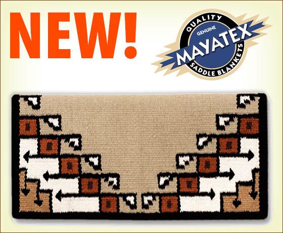 New! Mayatex™ Pueblo New Zealand Wool Saddle Blanket!