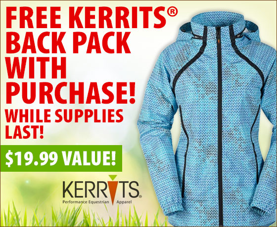 FREE Kerrits® Back Pack with purchase of Kerrits® Spring Apparel†!