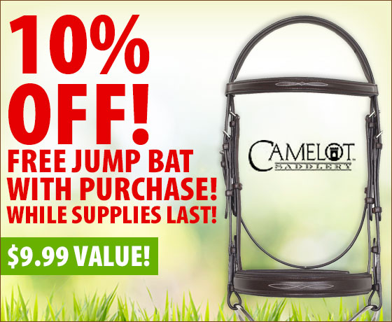 10% Off! Free Jump Bat with purchase! Camelot® Bridles†!