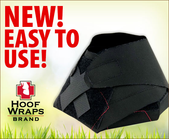 New! Easy to use! Hoof Wraps Brand® Equine Hoof Bandage!