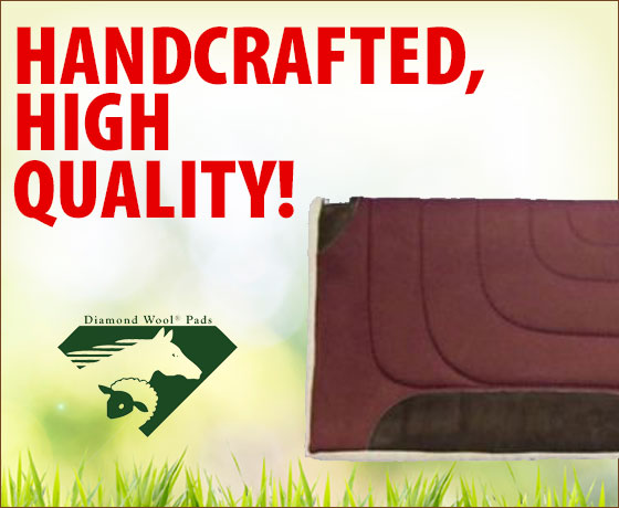 Handcrafted, high quality! Diamond Wool® Sagebrush Cutter Saddle Pad!