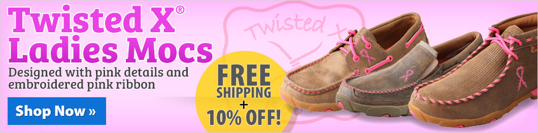 Twisted X® Ladies Mocs! FREE shipping + 10% off!