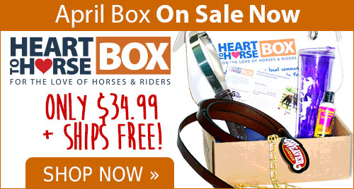 Heart to Horse Box is filled with tack, treats, apparel & more for horse and rider! 25% of proceeds go to a rescue in need! Only $34.99 Plus Free Shipping!