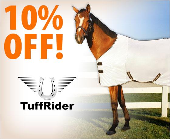 10% off the TuffRider® Comfy Mesh Standard Neck Fly Sheet†!