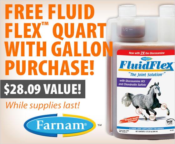 FREE FluidFlex™ quart with gallon purchase of the Farnam® FluidFlex™!