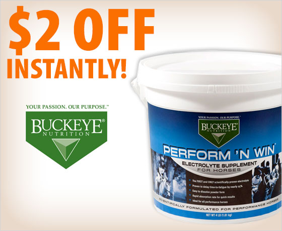 $2 off instantly on the Buckeye® Nutrition Perform 'N Win®!
