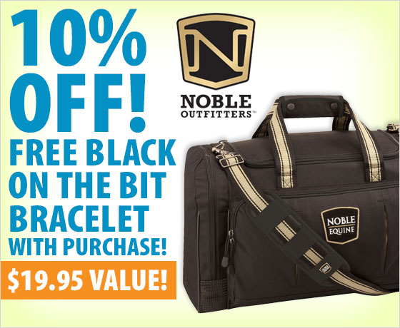 10% off! FREE black On the Bit Bracelet with purchase of Noble Outfitters™ Bags†!