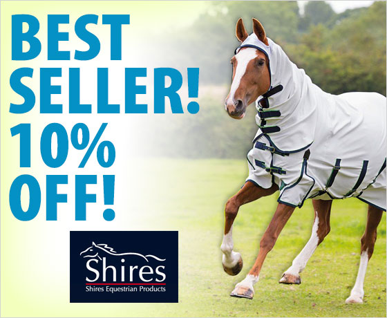 Best seller! 10% off the Shires® Sweet-Itch Combo Fly Sheet†!