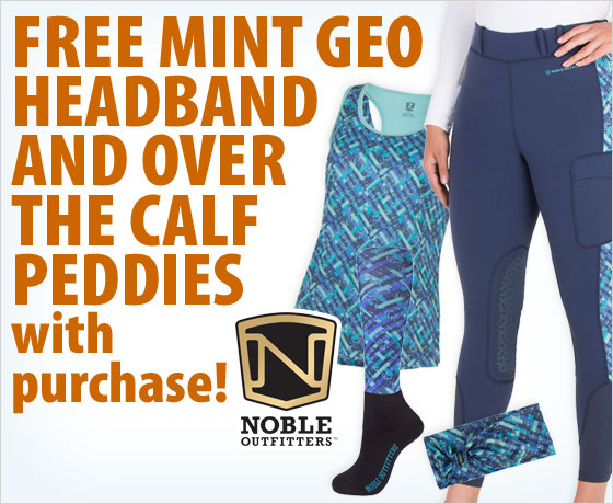 FREE Mint Geo Headband and Over the Calf Peddies with purchase of the Noble Outfitters™ Spring Apparel Collection†!