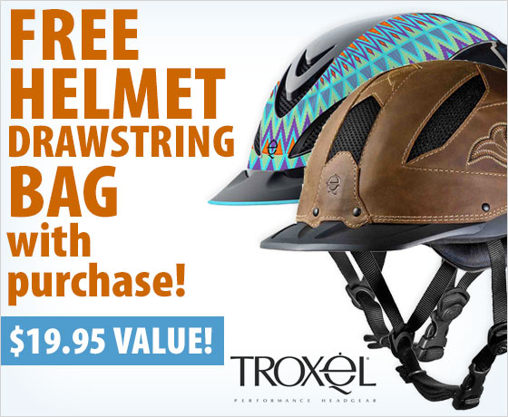 FREE Helmet Drawstring Bag with purchase of Troxel® Helmets†!
