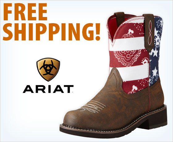 Free shipping on the Ariat® Ladies' Fatbaby Heritage Round Toe Boots†!