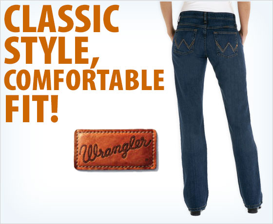 Classic style, comfortable fit! Wrangler® Q-Baby Jeans!