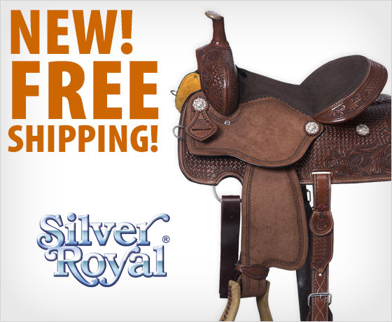 New! Free shipping on the Silver Royal Jackpot All-Around Saddle Package!
