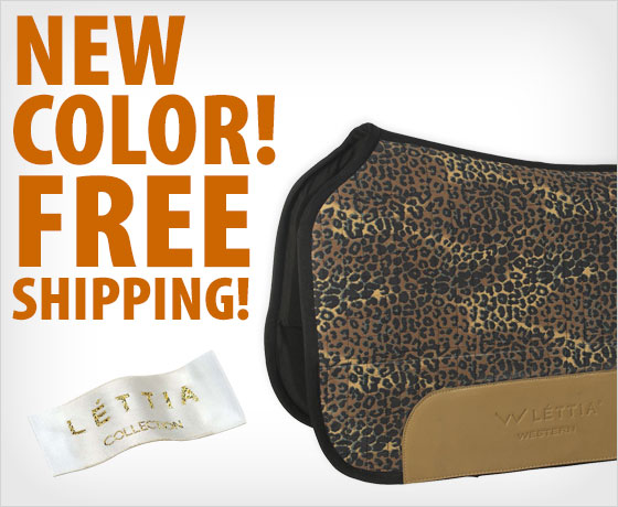 New color! Free shipping on the LÉTTIA® CoolMax® Western Saddle Pad†!