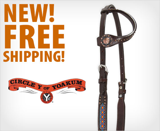 New! Free shipping on the Circle Y® Beaded Inlay Copper One Ear Headstall†!