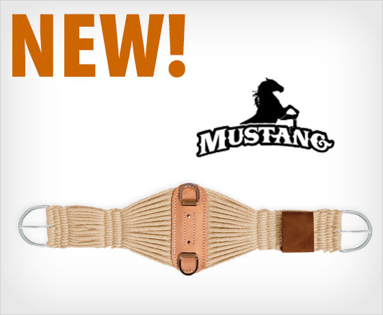 New! Mustang Traditions Mohair Roper Cinch!