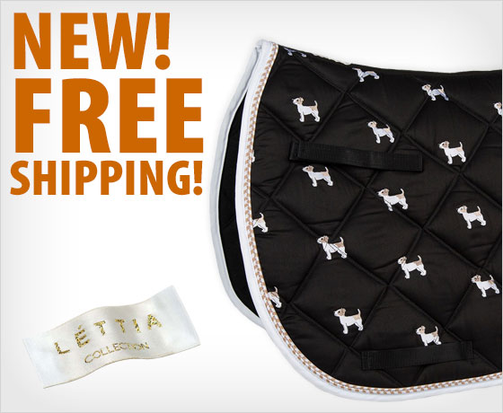 New! Free shipping on the LÉTTIA® Embroidered Jack Russell All-Purpose Pad†!