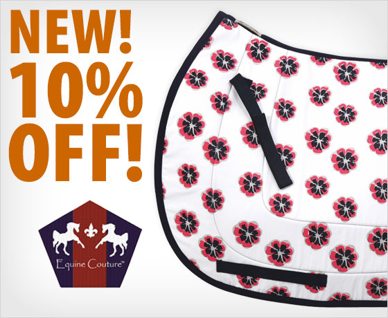 New! 10% off the Equine Couture™ Carla Cool-Ride Bamboo All-Purpose Saddle Pad†!