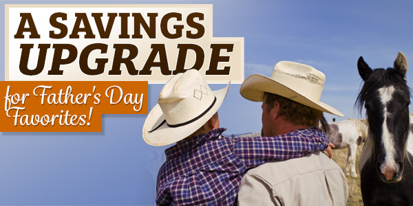 A Savings Upgrade for Father's Day Favorites! 25% Off + Free Shipping over $89!*
