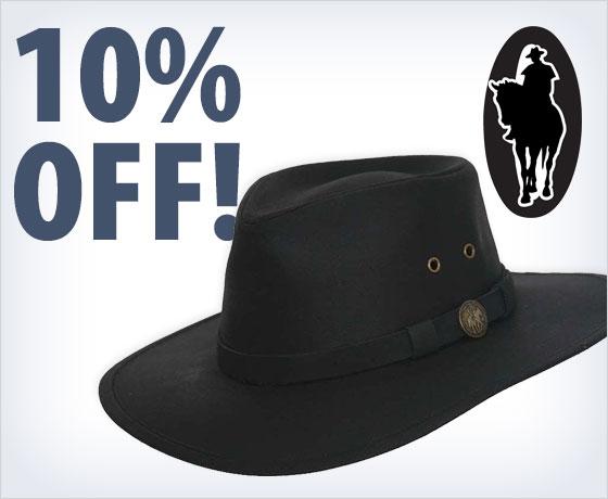 10% off the Outback Trading® Kodiak Oilskin Hat†!
