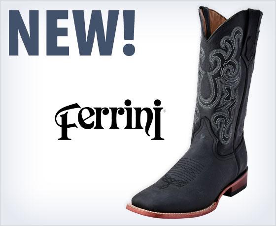 New! Ferrini® Men's Maverick Square Toe Boots!