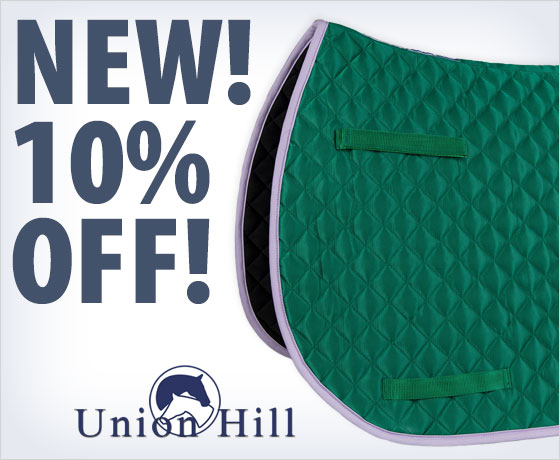 New! 10% off the Union Hill CoolMax® All Purpose Saddle Pad!