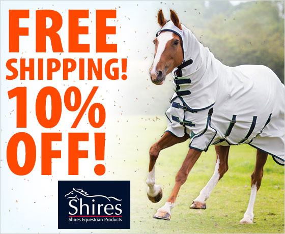 Free Shipping! 10% off the Shires® Sweet-Itch Combo Fly Sheet†!