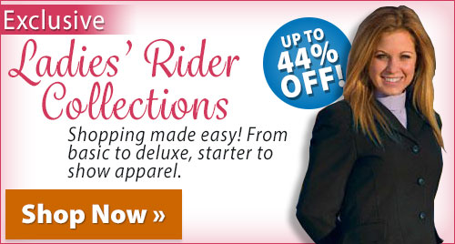 Exclusive Ladies' Rider Collections! Up to 44% off!