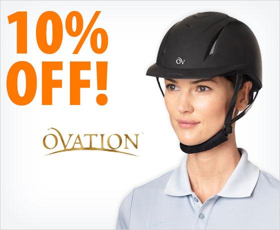 10% off the Ovation® Deluxe Schooler Helmet†!