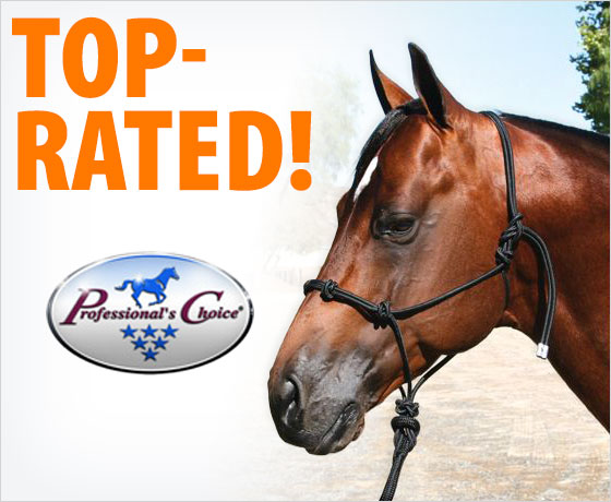 Top-rated! Professional's Choice® Clinician Rope Halter!
