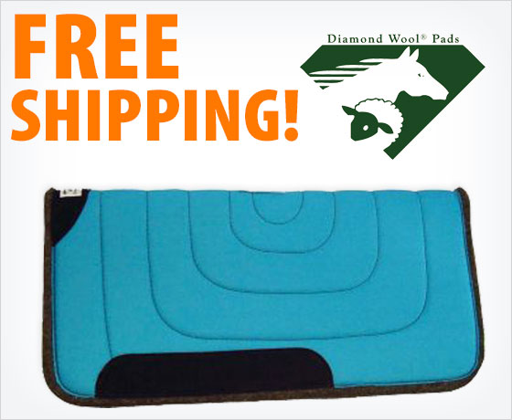 """Free shipping on the Diamond Wool® """"The Rancher"""" Ranch Pad!"""