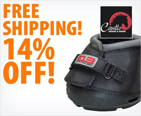 Free shipping! 14% off the Cavallo® ELB Regular Sole Hoof Boot†!