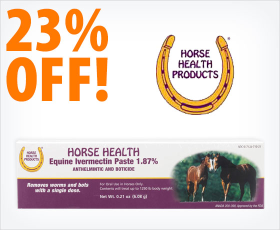 23% off the Horse Health Equine Ivermectin Paste—Single Dose†!