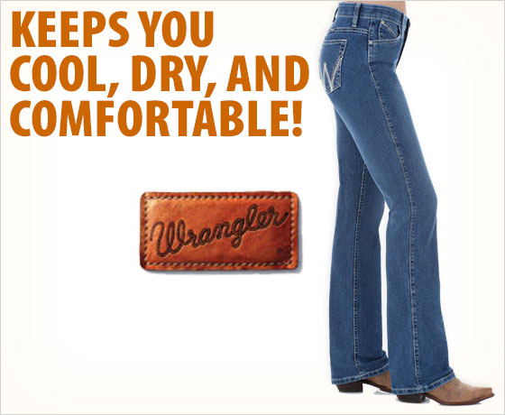 Keeps you cool, dry, and comfortable! Wrangler® Ladies' Q-Baby Cool Vantage Jeans!
