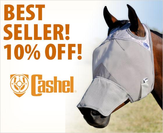 Best seller! 10% off the Cashel® Crusader™ Fly Mask†!