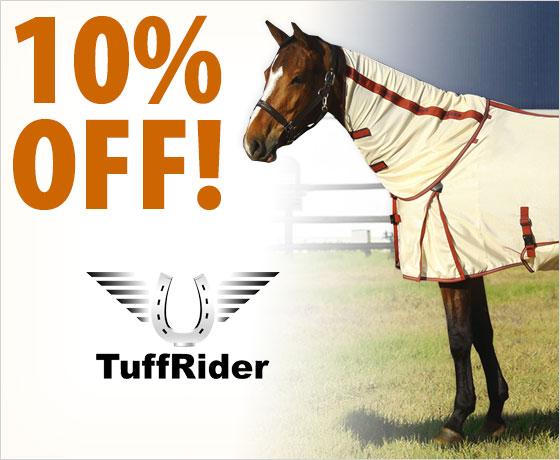 10% off the TuffRider® Power Mesh Detachable Neck Fly Sheet†!