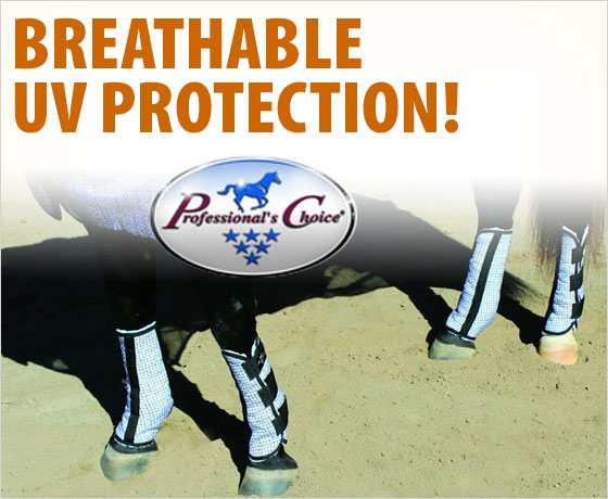 Breathable UV protection! Professional's Choice® Fly Boots!