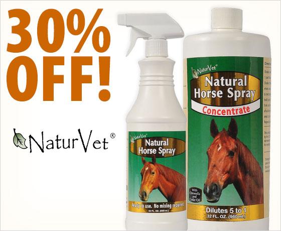 30% off NaturVet® Natural Horse Fly Sprays†!
