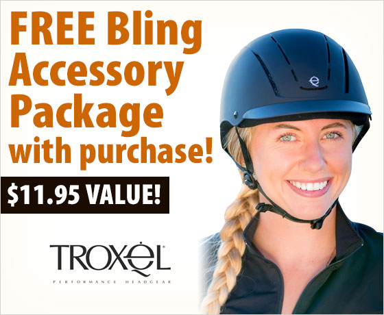 FREE Bling Accessory Package with purchase of the Troxel® Spirit Schooling Helmet – newly redesigned!†!