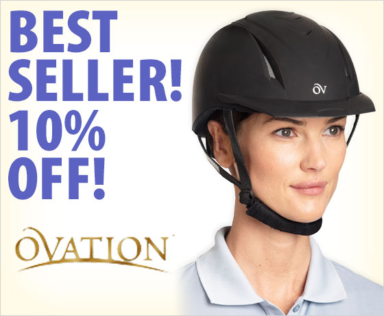 Best seller! 10% off the Ovation® Deluxe Schooler Helmet†!